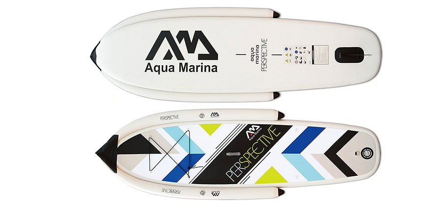 Aqua Marina Perspective New Beginner Inflatable Stand up Paddle Board